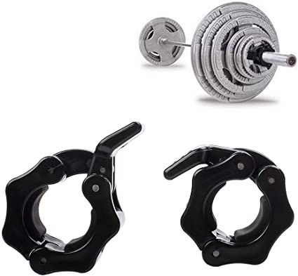 1 inch Barbell Clamp Collars Fitness Weight Bar Locks Olympic High quality