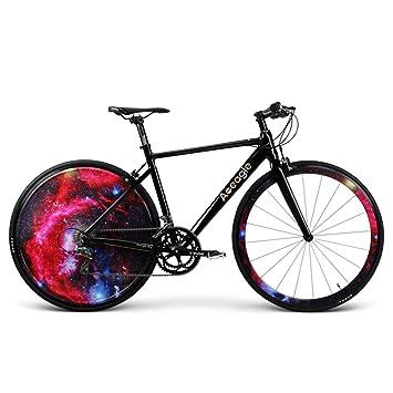 Huoduoduo Bicicleta, Bicicleta De Carretera, Luz LED Hyun Cool Rueda Trasera, Batería De Litio Recargable Incorporada,Marco De Aleación De Aluminio: ...