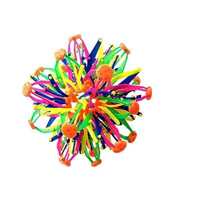Novedad de la pelota retráctil expansible bola de la mano del juguete de la persona agitada respiración Catch Esfera bola de la flor para los niños L 1PC: Juguetes y juegos