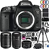 Canon EOS 7D Mark II DSLR Camera 39PC Accessory Kit - International Version (No Warranty) w/EF-S 18-135mm f/3.5-5.6 IS USM Lens, EF-S 55-250mm f/4-5.6 IS STM Lens, EF 50mm f/1.8 STM Lens, MORE