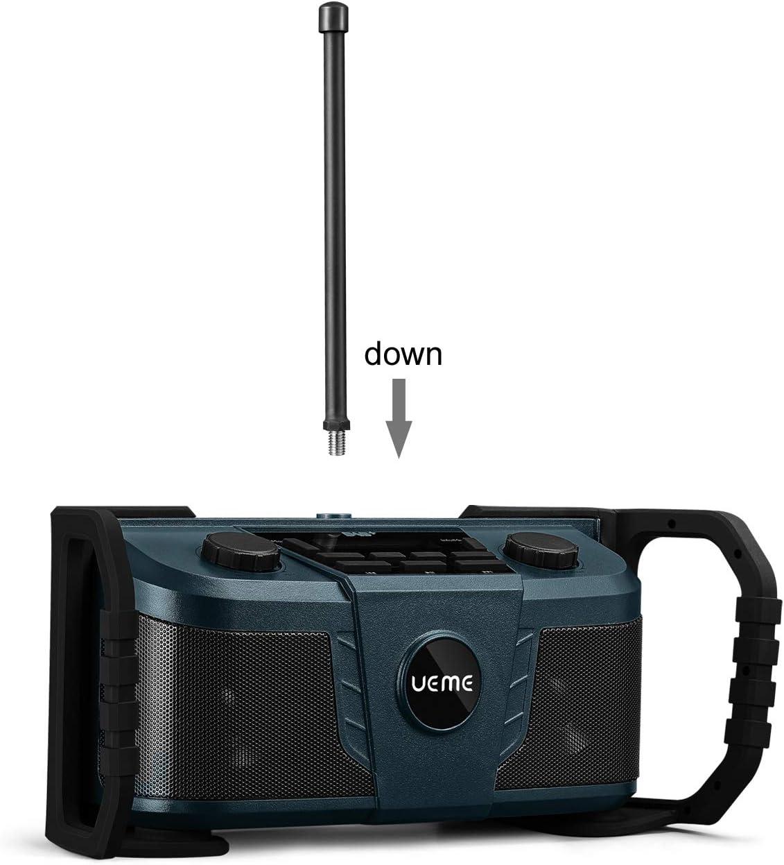 Ueme Baustellenradio Dab Dab Fm Radio Digitalradio Mit Bluetooth Und Wecker Und Dimmer Robustes Dab Plus Radios Db 322 Blau Baumarkt
