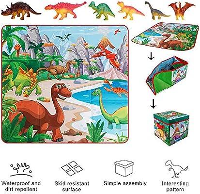 Figura De Juguete De Dinosaurio con Tapete De Juego De Actividad ...
