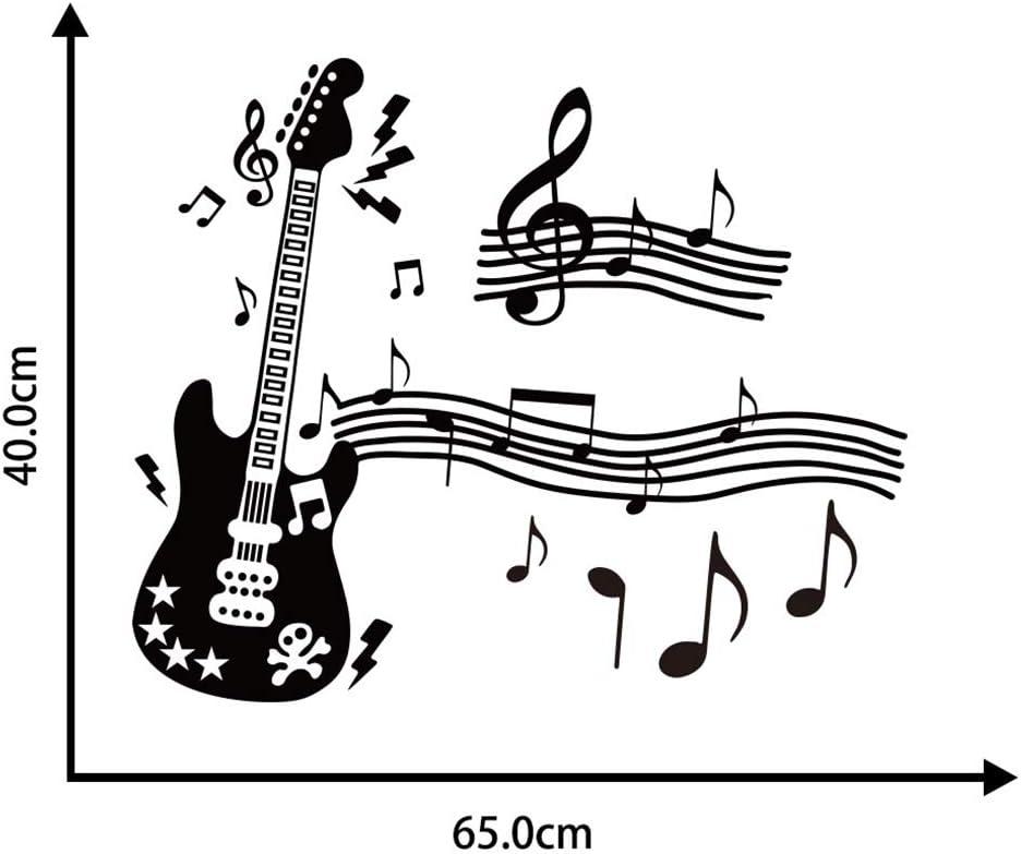 Notas Musicales Música Guitarra Vinilo Pegatinas de Pared ...
