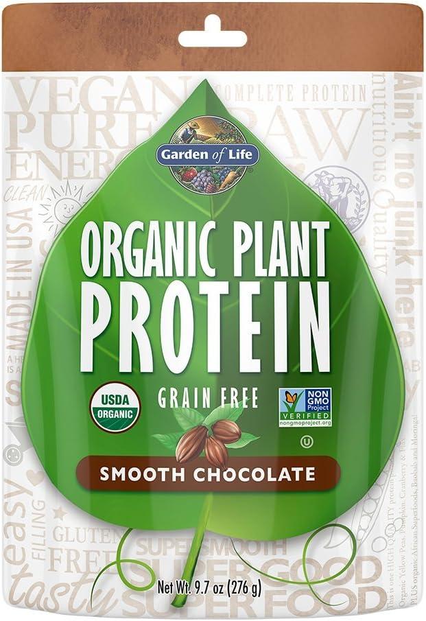 Garden of Life Organic Protein Powder – Vegan Plant-Based Protein Powder, Chocolate, 9.7oz 276g Powder
