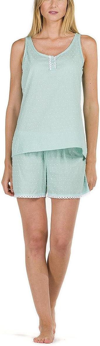 Pijama Mujer Verano 100% algodón: Amazon.es: Ropa y ...