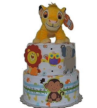 Amazon.com: 2 niveles Safari temática de pastel/tarta de ...