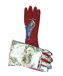 Magid Glove & Safety S300ARFWL Aluminized Back Palm Welding Glove, Brown, Aluminum Coating, Brown, Aluminum Coating