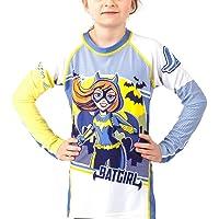 Fusion Batgirl Kids Rash Guard Compression Shirt- Long Sleeve