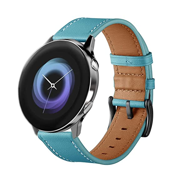 Kartice Compatible Galaxy Watch Active (40mm) Bands,Gear Sport Bands,20mm Leather Replacement Buckle Wrist Band for Samsung Galaxy Watch Active ...