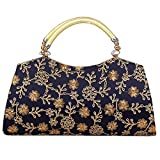 Fantastic Handicraft Indian Clutch/Purse/Hand Holding for Women & Girls (Navy Blue)