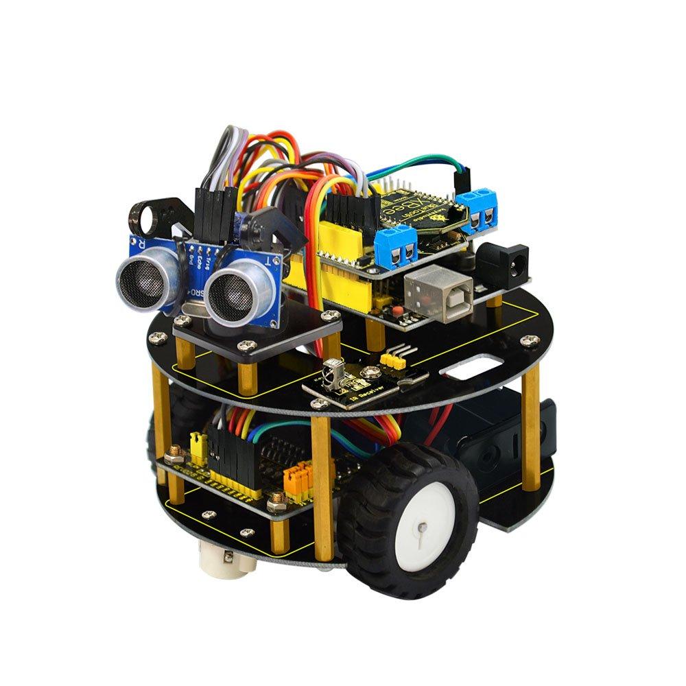 KEYESTUDIO Kit Voiture Robot 4 Sets DC Gear Motor Robot//Tire Wheel Moteur /à Engrenage pour Arduino Car Kit Raspberry Pi Robot Kit