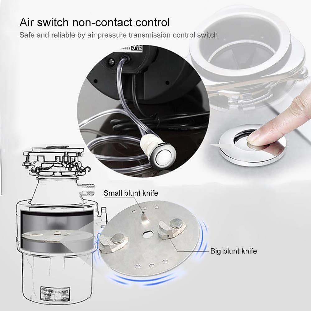 Broyeur de d/échets alimentaires avec interrupteur Air,Broyeur d/évier silencieux,/Évier broyeur de d/échets alimentaires,Broyeur grande capacit/é 1400ml,Black