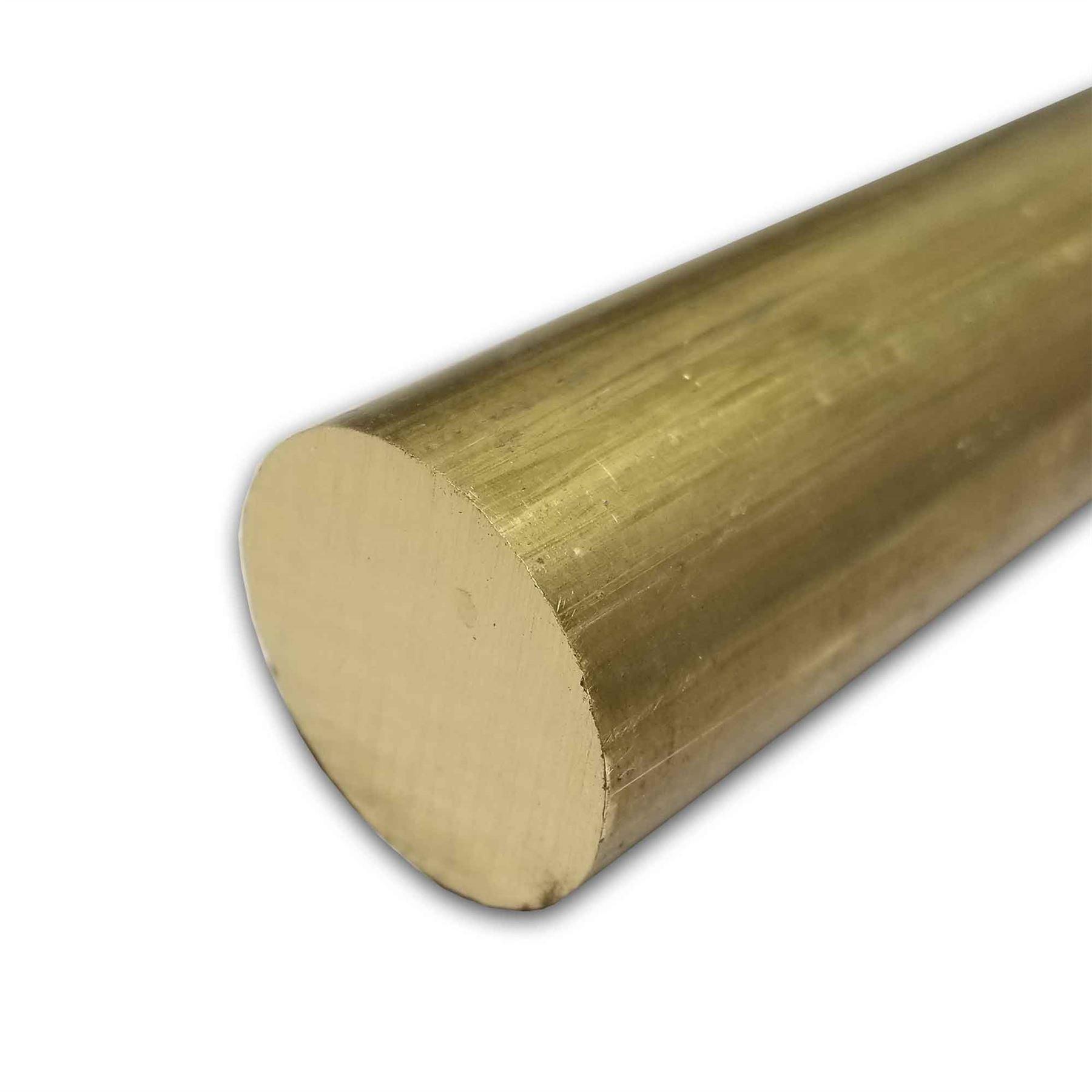Online Metal Supply C360 Brass Round Rod, 2.000 (2 inch) x 6 inches by Online Metal Supply