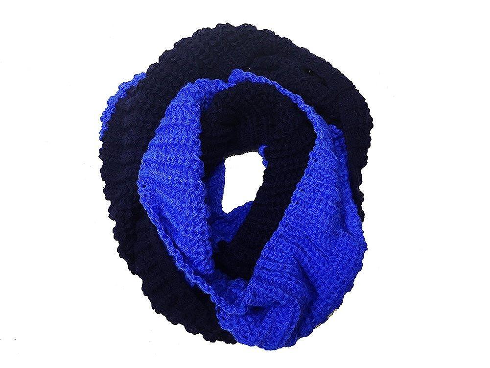 Magik Unisex Mens Womens Winter Warm Infinity 2 Circle// 2 Loop Cable Knit Cowl Neck Long Scarf Shawl