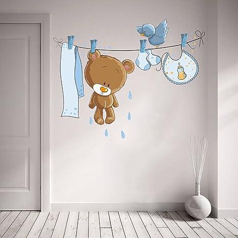 Buy Rawpockets Funny Teddy Bear Wall Sticker Pvc Vinyl 104 Cm X