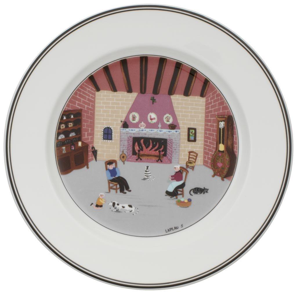 Villeroy & Boch 10-2337-2646 Assiette à Dessert Porcelaine Rouge 22 x 23 x 7 cm 1 Assiette