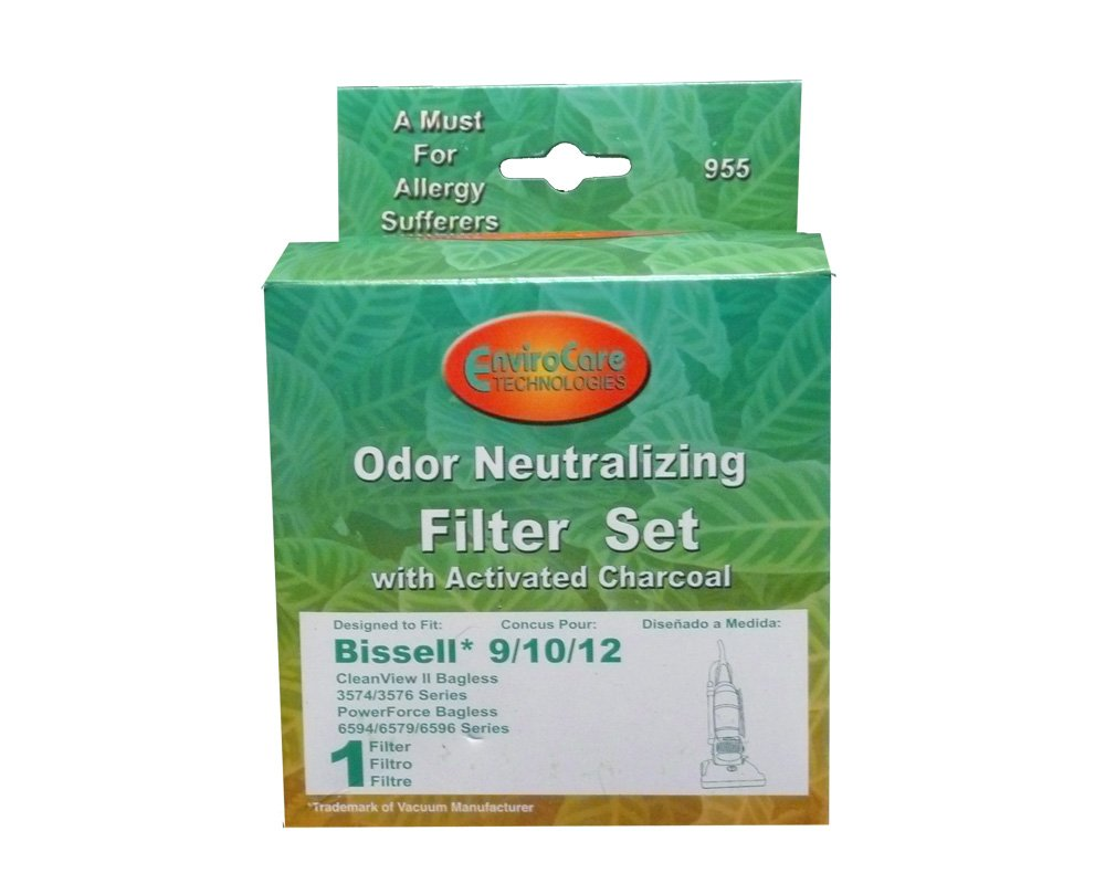 Bissell #32065 #32064 Style9/10/12 Pleated Filter Cartridge and washable Foam Filter