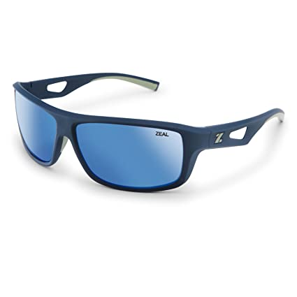 3e192c1f437 Zeal Optics Unisex Range Navy Blue Horizon Blue Polarized Lens One Size