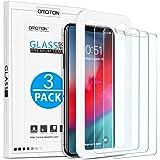 OMOTON® [3 Pezzi iPhone XS Max (6.5 Pollici) Pellicola Protettiva in Vetro Temperato - Bordi Arrotondati 2.5D - Anti-Impronte Digitali - Anti-Graffi - Senza Bolle
