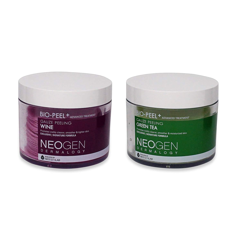 (Pack of 2) Neogen Dermalogy 2017 New Version Bio-Peel Gauze Peeling-Multi Combo (Wine & Green Tea) by Neogen