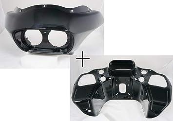 TCMT Vivid Black Injection ABS Inner /& Outer Fairing Fit For Harley Davidson FLTR Road Glide 1998-2013