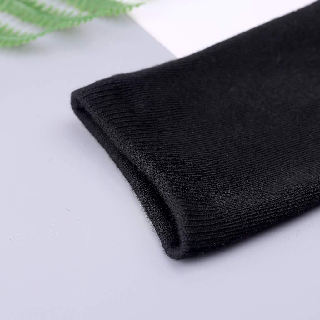 unisex Nero Calzini invernali lunghi da 20 cm per donne e uomini Xiuinserty
