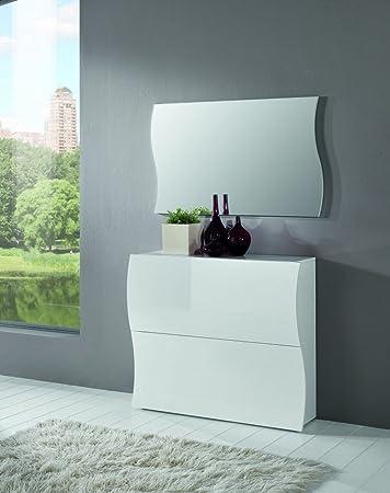 schuhschrank weis in hochglanz flur design. Black Bedroom Furniture Sets. Home Design Ideas