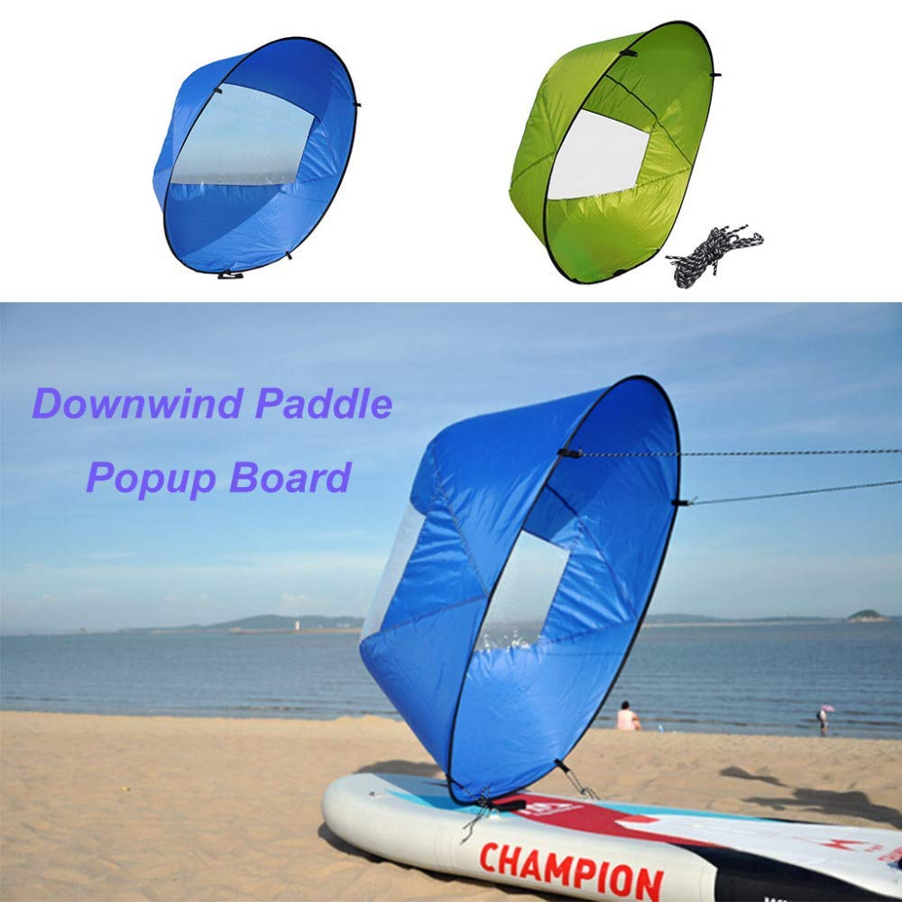 Zerdhey Blue Geen Foldable Kayak Downwind Kit Popup Board Wind Paddle Boat Wind Sail Kayak Canoe Inflatable Boat Sailboat Accessories#g4 by Zerdhey