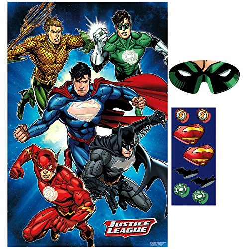 justice+league Products : Amscan 271585 Justice League Party Game