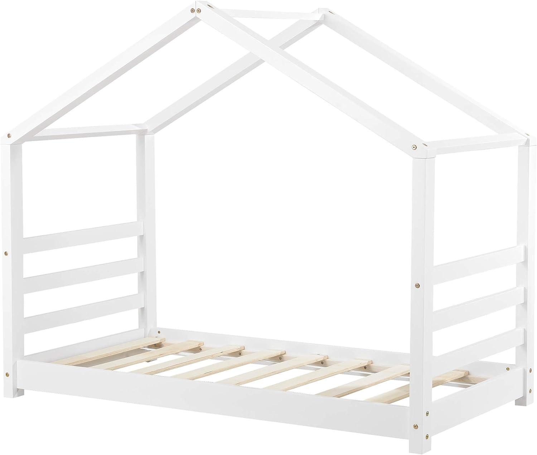 en.casa] Cama para niños de Pino 70 x 140 cm Cama Infantil ...