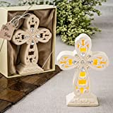 53 Glowing Ivory Color Standing Cross Statues w/ Led Light