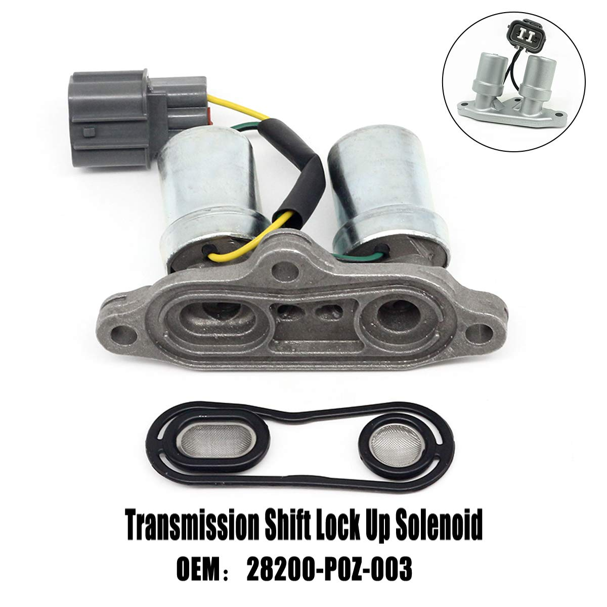 28200-p0z-003 Transmission Shift Solenoid Replacement for 1998 94-97 98 2002 Honda Odyssey Acura Accord Acura CL Torque Converter Lock-Up Solenoids transmission Control Solenoid module cr honda crv 00