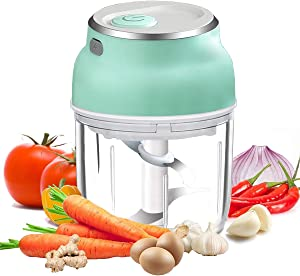 VOUM Electric Garlic Chopper Mini Food Chopper with USB,Portable Small Food Processor for Garlic/Chili/Ginger/Onion,Meat Grinder.(230ml)