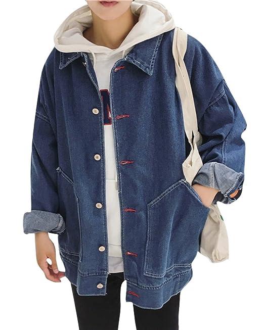 Hombre Chaqueta Vaquera Manga Larga Abrigo Jacket Cazadoras De Mezclilla con Botones: Amazon.es: Ropa y accesorios