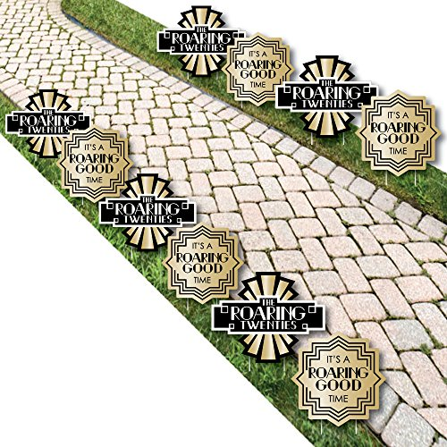 Roaring 20's - Art Deco Lawn Decorations - Outdoor 1920s Jazz Party Yard Decorations - 10 -
