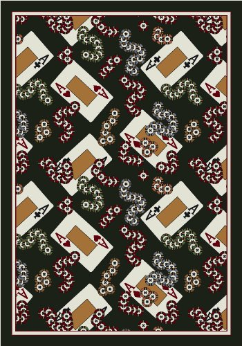 Four Milliken Activity - Activity Four-of-a-Kind All-Over Poker Novelty Rug Rug Size: 7'8