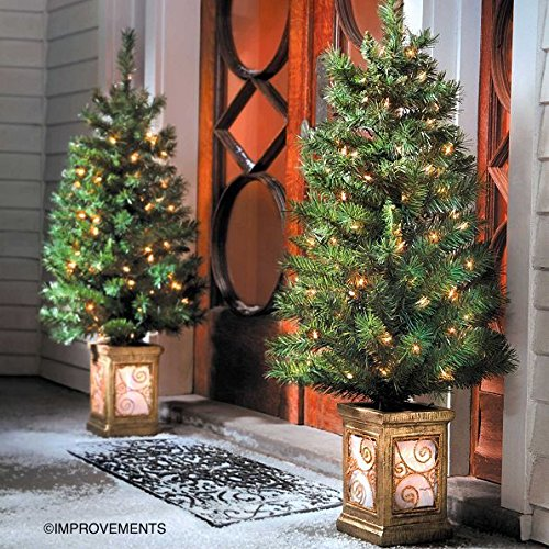 4 Ft Pre-Lit Entryway Christmas Trees - Set of 2 - By Improvements by Improvements (Image #2)