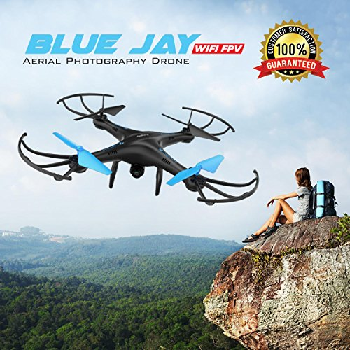 Force1 U45 Blue Jay WiFi FPV Quadcopter Drone with HD Camera, Altitude Hold, and Live Video Plus Remote Control