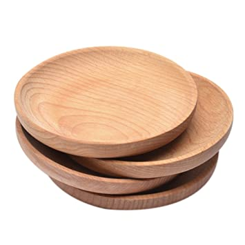 Natural Wood Serving Tray Kinds Wooden Plate Bread Coffee Tea Dishes Platter Solid Wooded Trays Handmade  sc 1 st  Amazon UK & Natural Wood Serving Tray Kinds Wooden Plate Bread Coffee Tea Dishes ...