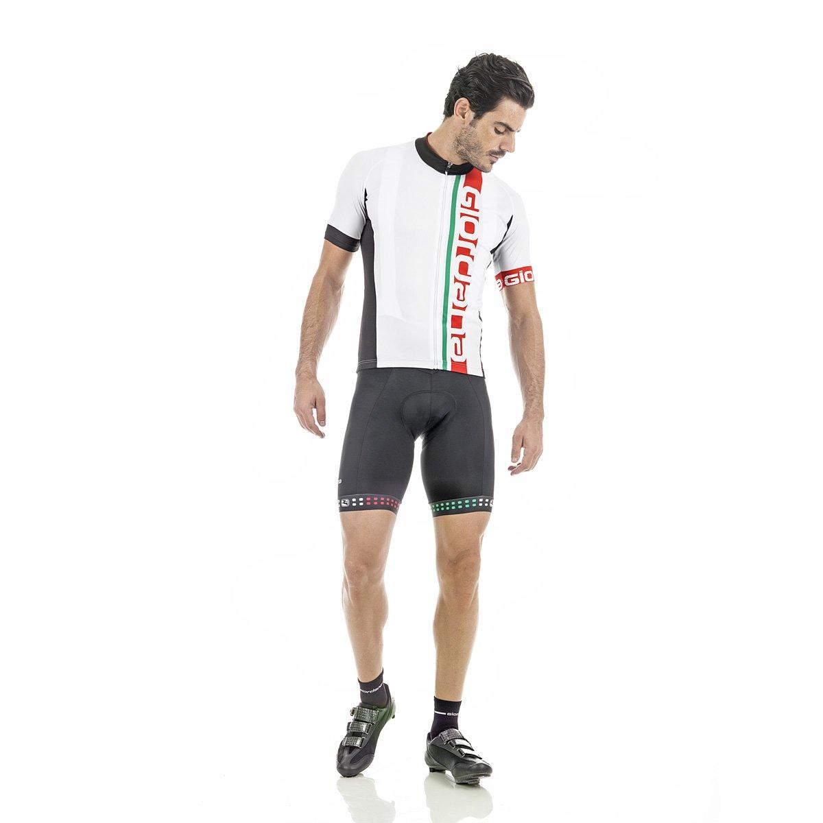 Giordana 2017 メンズ イタリア ベロ プロ 半袖 サイクリングジャージ - GICS17-SSJY-VERO-1988 Large WHITE/RED/GREEN B01NH9IZAC