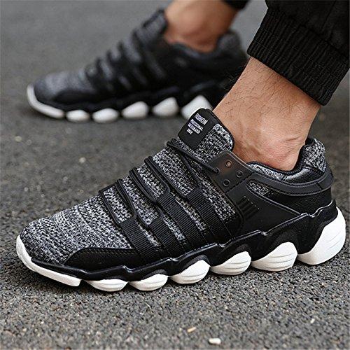 Nouvelles chaussures de course pour hommes Chaussures Femmes chaussures maille respirante chaussures de sport de plein air Arena femme marche athlétique Formation Jogging GRAY O2WbxLpf