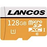 LANCOS 128GB Class 10 UHS-I microSDXC Memory Card with SD Adapter