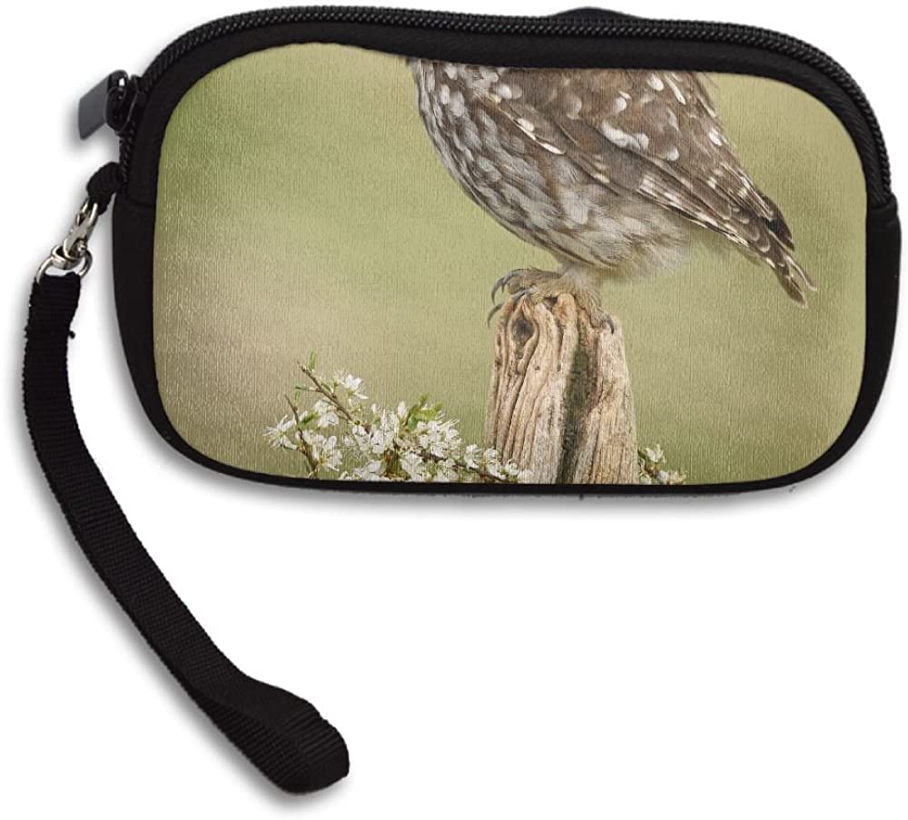 Cute Little Owl Deluxe Printing Small Purse Portable Receiving Bag