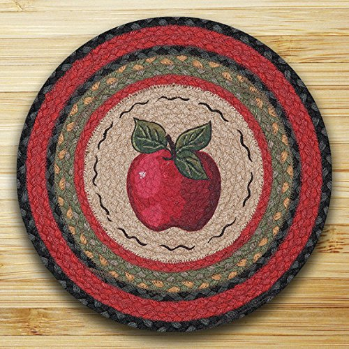 15.5in. x 15.5in. Apple Round Chair Pad - Set of (Apple Chair Pad)