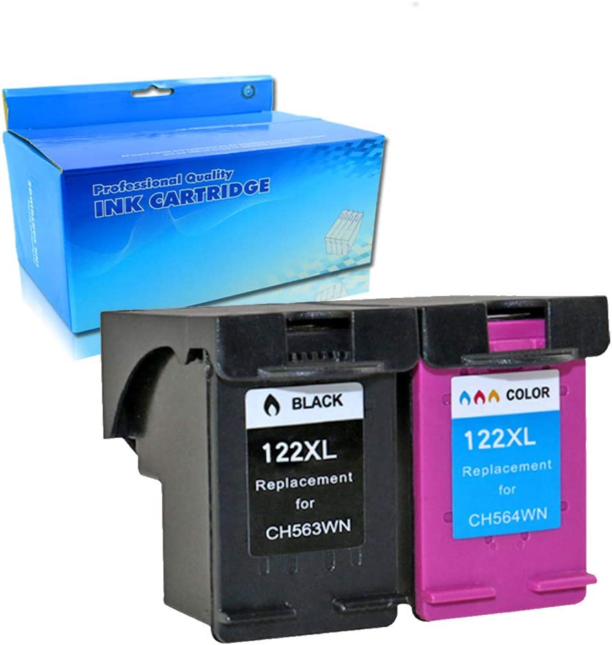 OGOUGUAN Remanufactured Ink Cartridges Replacement for HP 122 XL 122xl Black and Tri-Color for HP Deskjet 1000 1050 2000 2050 2050s 3000 3050A 3052A 3054A (1 Black 1 Color 2PK)