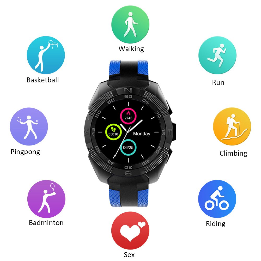 Smartwatch, Kivors L3 Reloj Inteligente Bluetooth 4,0 con ...