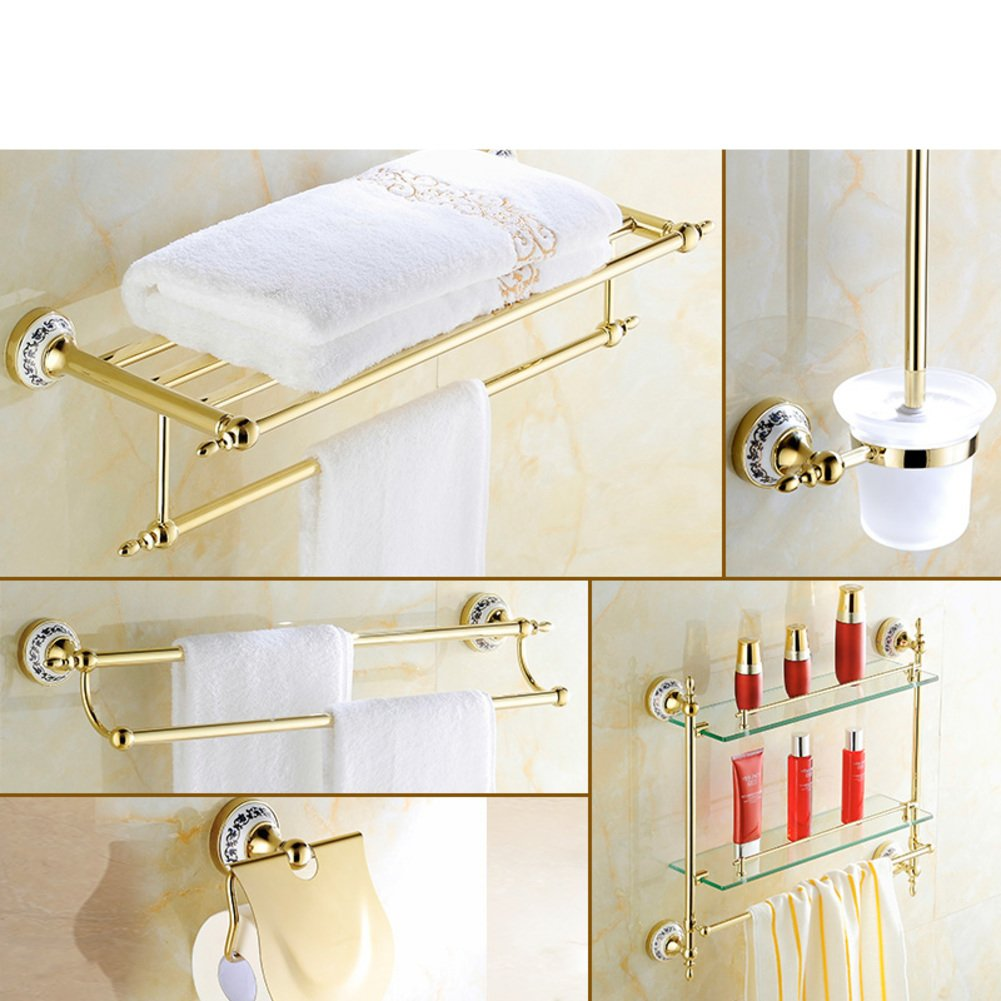 best Golden Towel rack/Gold-plated stainless steel European style Towel rack/toilet/Bathroom accessories-M