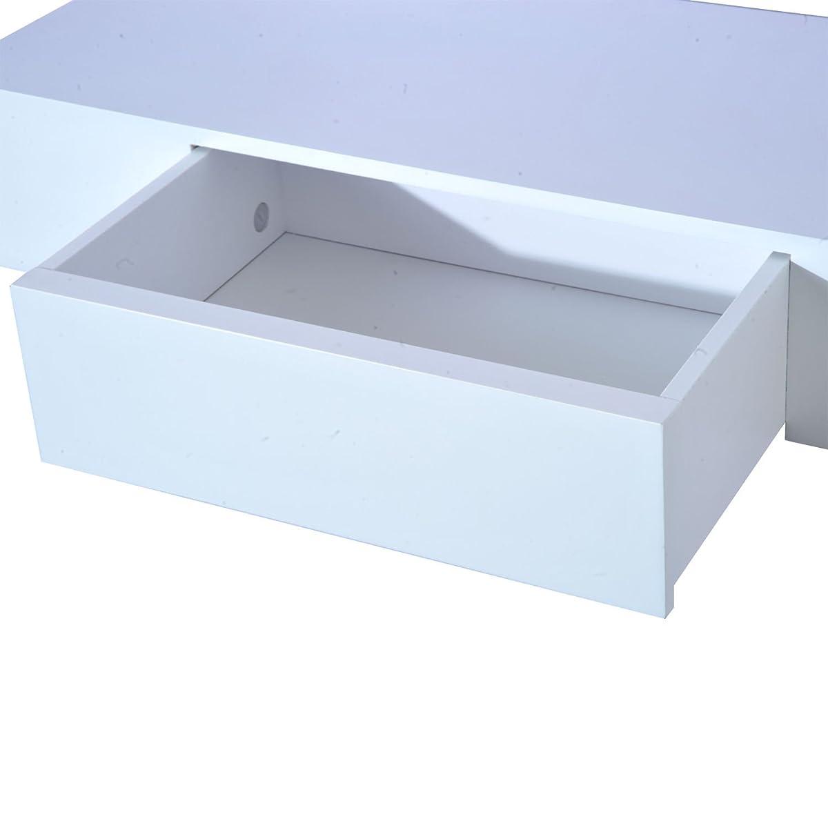 "HOMCOM 24"" Modern Wall Mounted Floating Storage Shelf with Small Hidden Drawer"