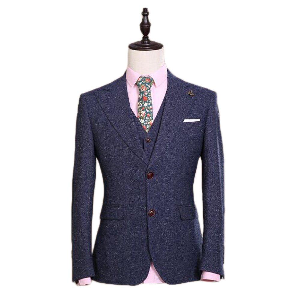 Love Dress Men's Suit 3-Piece Groom Dress Men Blazer 5XL