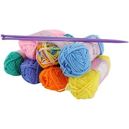 Kit de iniciación de hilo para tejer Craft 7 madejas de lana color 5 mm  agujas 215d113edd5